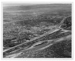 Aerial view of Pueblo Freeway and northern Pueblo